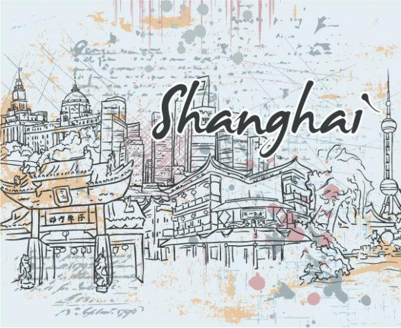 Doodles Vector Artwork Shanghai Doodles Vector Illustration 1