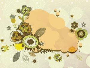 Abstract Floral Frame Vector Illustration Vector Illustrations floral