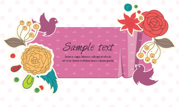 Illustration Vector Illustration: Colorful Floral Frame Vector Illustration Illustration 1