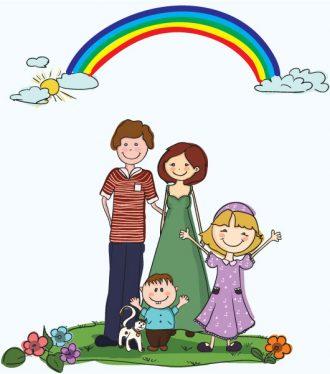 Cartoon Family Background Vector Illustration Vector Illustrations vector
