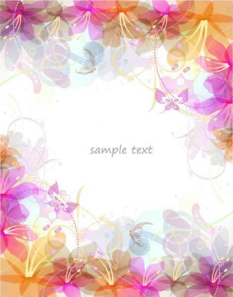 Astounding Floral Vector: Vector Abstract Floral Background 1