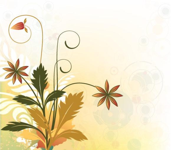 Insane Vintage Vector Artwork: Vintage Floral Background Vector Artwork Illustration 1