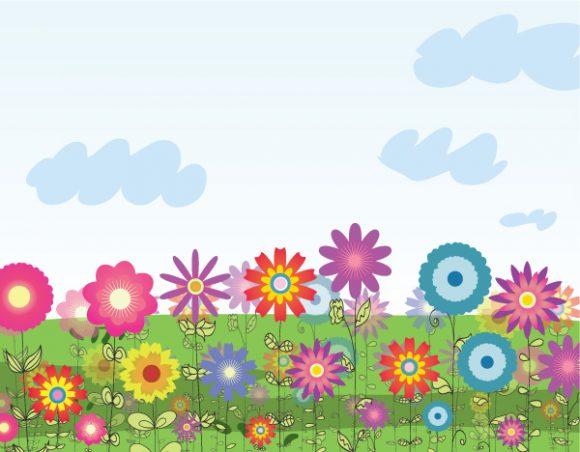 Vector Vector Artwork: Vector Artwork Colorful Floral Background 1