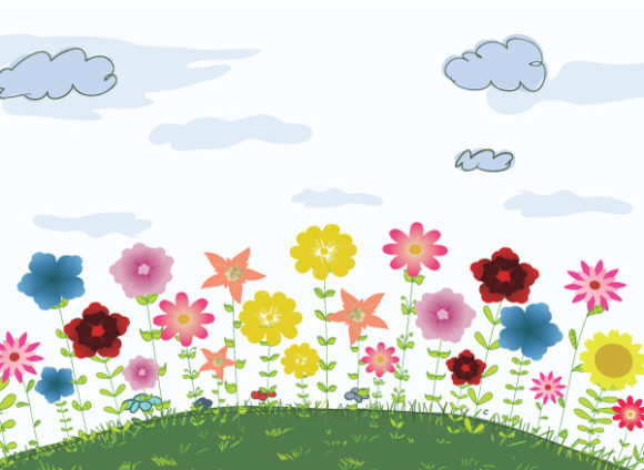 Colorful Eps Vector Vector Colorful Floral Background 1