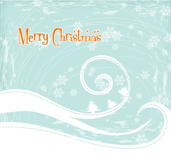 Amazing Card Vector Artwork: Vector Artwork Christmas Greeting Card 1