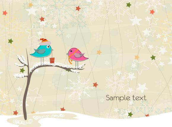 Card Vector Art: Vector Art Christmas Greeting Card 1