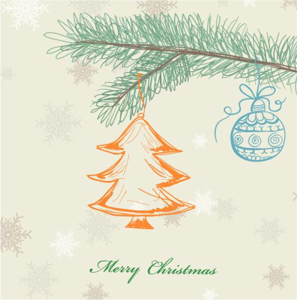 Card Vector Art Vector Christmas Greeting Card 1