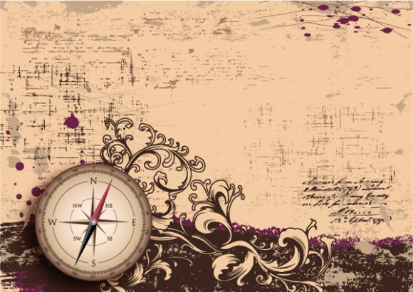 Background, Old Eps Vector Vector Vintage Background With Compass 1