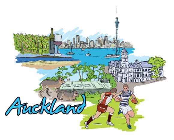 Buy Vector Vector Art: Auckland Doodles Vector Art Illustration 22 06 2011 58