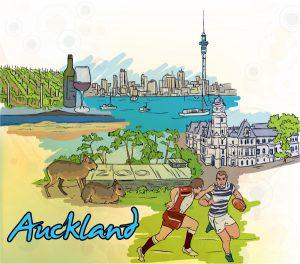 Auckland Doodles Vector Illustration Vector Illustrations ball