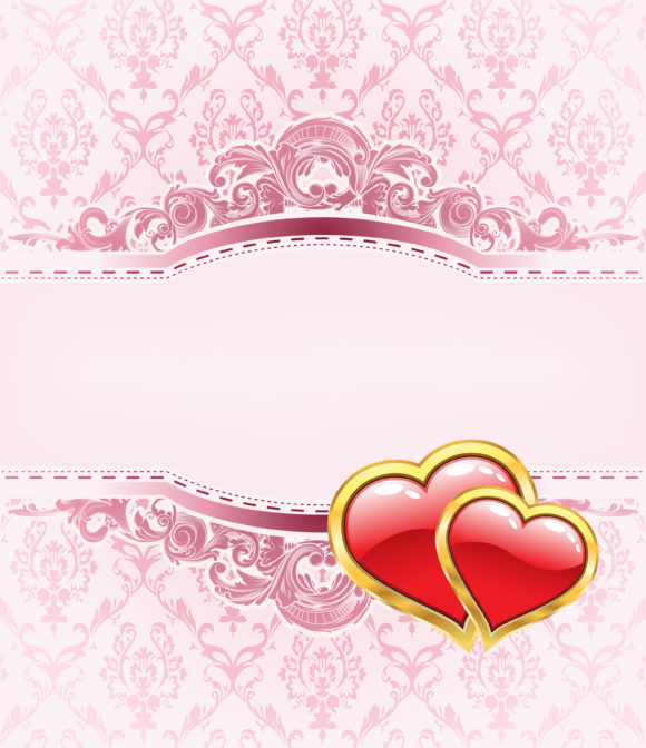 Vector Valentines Background With Heart 22 12 2010 59