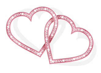 Vector Valentines Background With Hearts Vector Illustrations old
