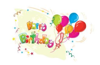 Kids Birthday Party Vector Illustration Vector Illustrations star