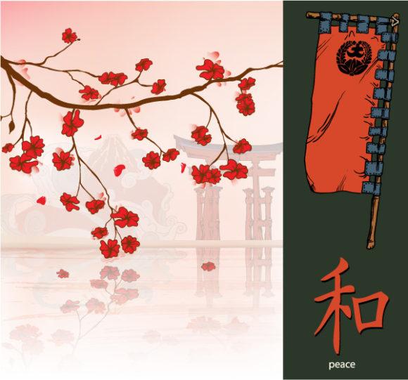 Best Vector Vector Artwork: Japanese Background Vector Artwork Illustration 1