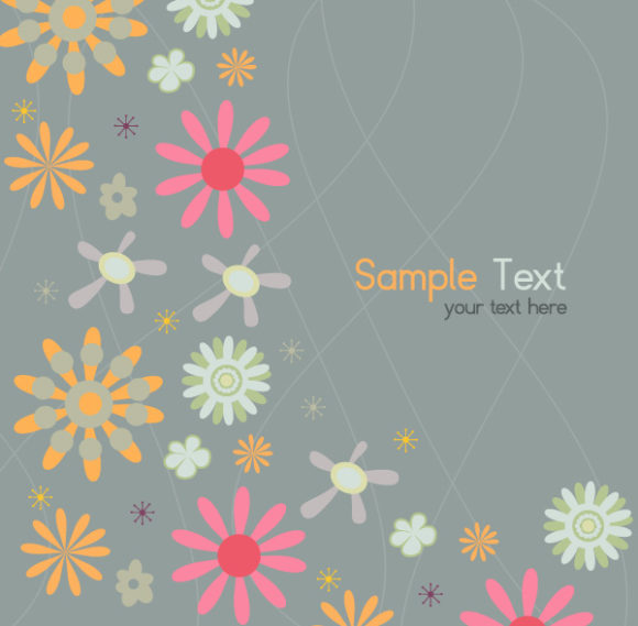 Surprising Vector Vector Graphic: Vector Graphic Abstract Floral Background 1
