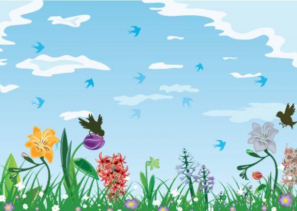 Special Creative Vector Artwork: Birds With Floral Vector Artwork Illustration 1