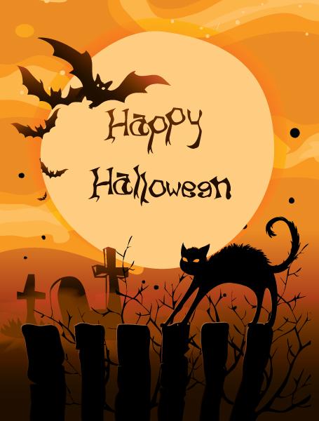 Lovely Illustration Vector Illustration: Halloween Background Vector Illustration Illustration 1