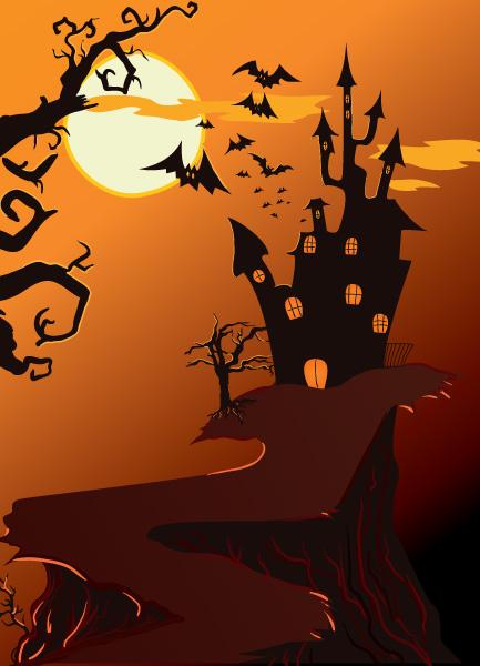 Background Vector Art Halloween Background Vector Illustration 1