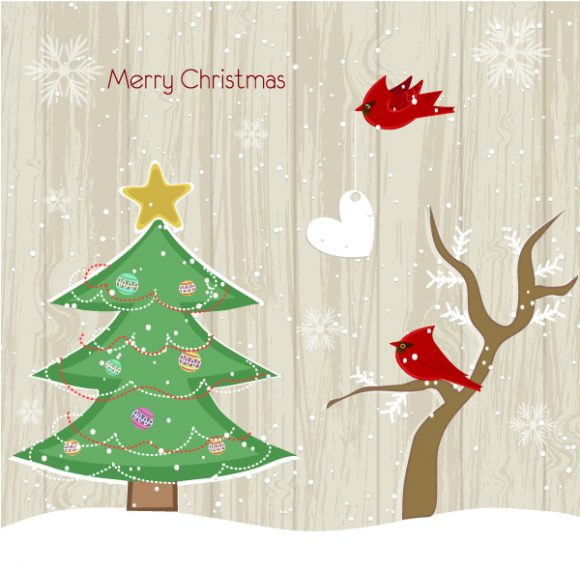 Gorgeous Tree Vector Design: Vector Design Christmas Background With Tree 1
