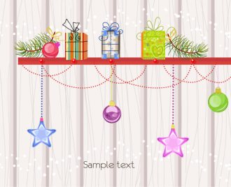 Vector Christmas Background With Presents Vector Illustrations vector