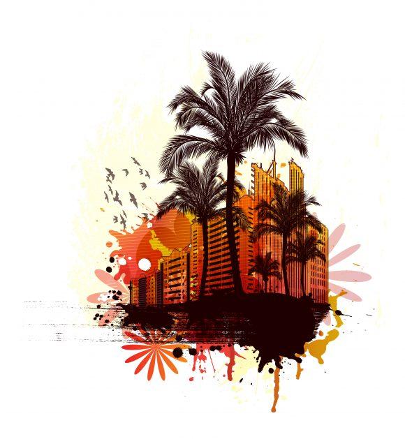 Grunge, Vintage-2 Vector Illustration Vector Grunge Summer Illustration 23 02 2011 2 scaled