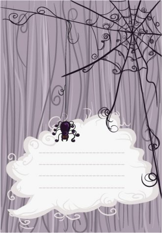 Halloween Background With Spyder Vector Illustration Vector Illustrations vector