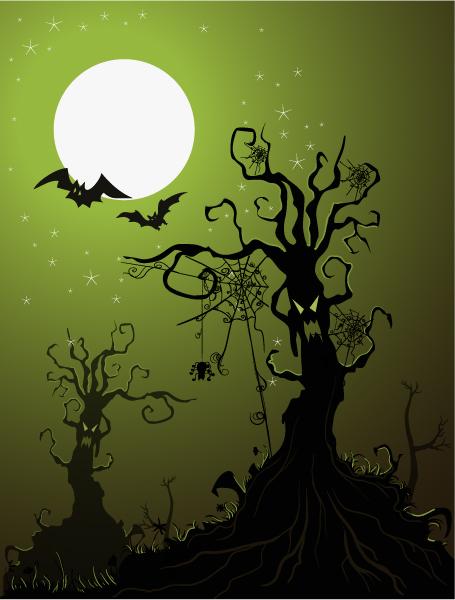 Buy Vector Vector Graphic: Halloween Background Vector Graphic Illustration 23 8 2011 105