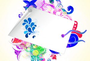 Vector Shopping Tag With Colorful Background Vector Illustrations vector