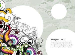 Vector Colorful Floral Background Vector Illustrations old