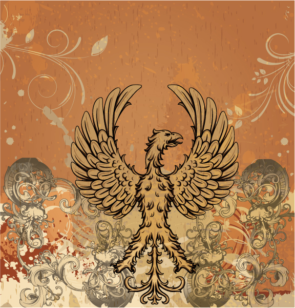 Vector Vintage Background With Griffin 24 8 2011 28