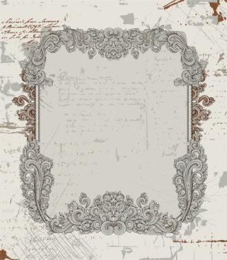 Vector Grunge Baroque Frame Vector Illustrations old