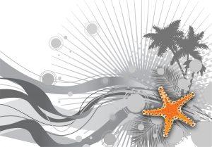 Summer Background Vector Illustration Vector Illustrations palm