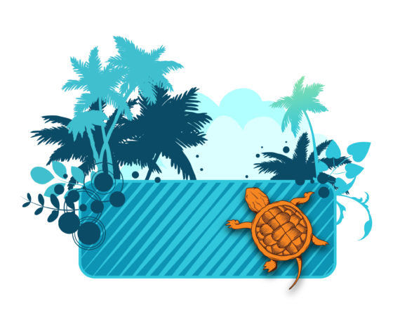 Voector Summer Frame With Palm Trees Vector Illustrations palm