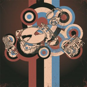 Vector Retro Concert Poster Vector Illustrations old