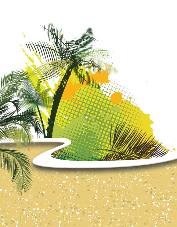 Voector Summer Background With Palm Trees 25 03 2011 6