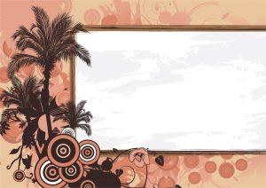 Vector Grunge Summer Illustration Vector Illustrations palm