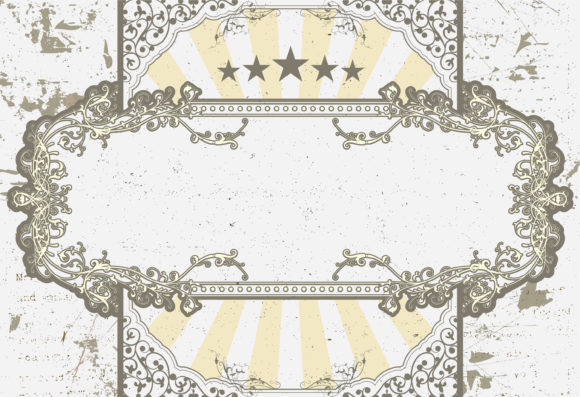 Vector Vintage Label With Grunge Vector Illustrations old