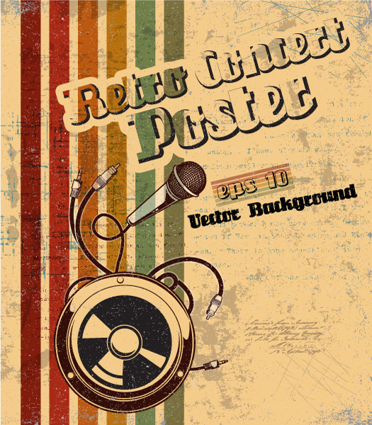 Rusty Vector Vector Retro Concert Poster 1