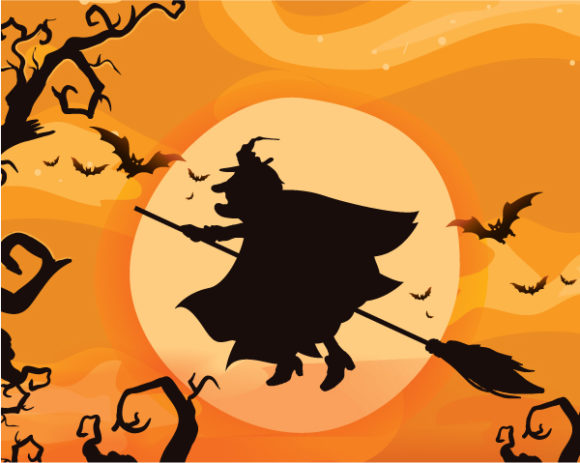 Exciting Moon Vector Art: Halloween Background Vector Art Illustration 25 8 2011 111
