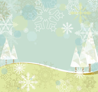 Winter Background With Trees Vector Illustration Vector Illustrations tree