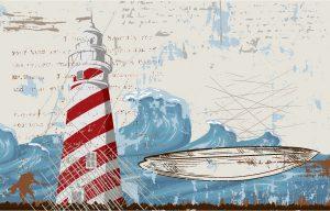 Grunge Summer Background Vector Illustration Vector Illustrations sea