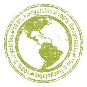 Vector Eco Stamp With Planet Earth Vector Illustrations old