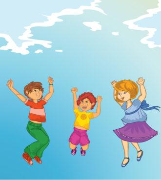 Kids Playing Vector Illustration Vector Illustrations vector
