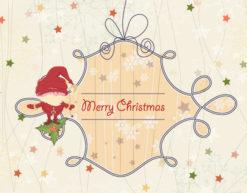 Vector Christmas Greeting Card With Santa Vector Illustrations star