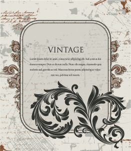 Vector Grunge Floral Frame Vector Illustrations old