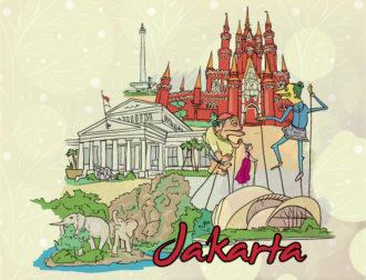 Jakarta Doodles Vector Illustration Vector Illustrations tree