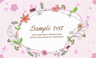 Vector Frame With Floral Vector Illustrations star