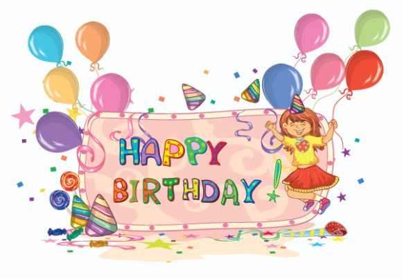 Kids Birthday Party Vector Illustration Vector Illustrations vector