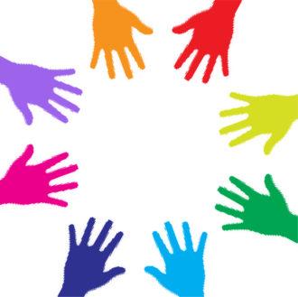 Colorful Hands Vector Illustration Vector Illustrations vector