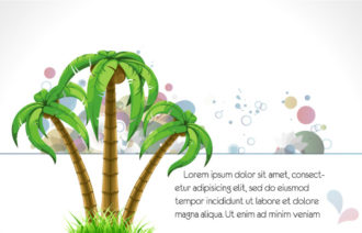 Abstract Summer Background Vector Illustration Vector Illustrations palm